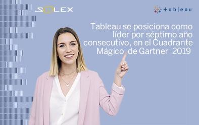 Tableau nombrado líder en el Cuadrante Mágico de Gartner 2019 para plataformas de analítica e inteligencia empresarial.