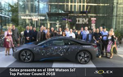 Solex presente en el IBM Watson IoT Top Partner Council 2018
