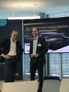 Johannes Zu Eltz, WW Head of Partner Channel Sales, IBM Watson IoT DER. Martin Arend, General Manager E/E Arquitecture and Technologies, BMW AG