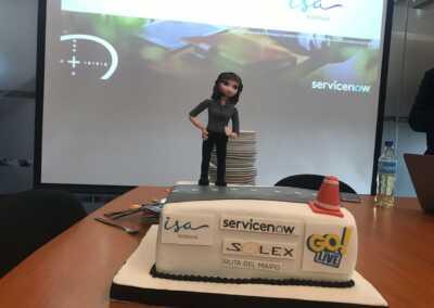 Celebración de Solex y Servicenow celebra el go-live en Intervial