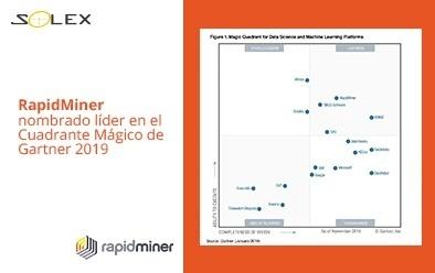 RapidMiner líder del Cuadrante Mágico de Gartner 2019