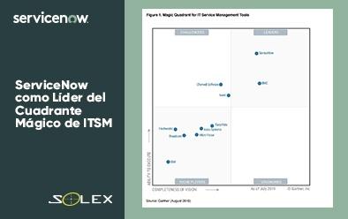 ServiceNow como Líder del Cuadrante Mágico de ITSM