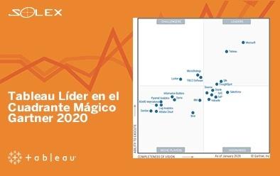 Tableau Líder en el Cuadrante Mágico Gartner 2020