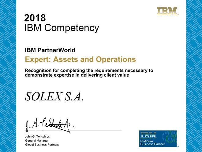 ibm certificacion activos operacion