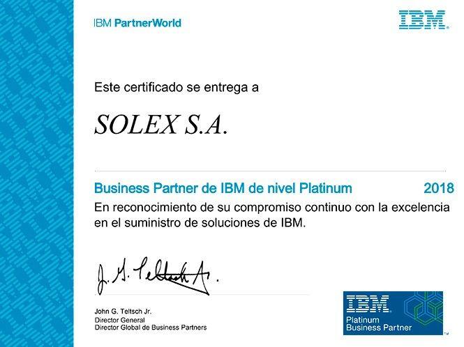 ibm platinum partner solex