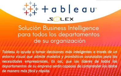 Tableau, solución Business Intelligence para todos los departamentos de su organización
