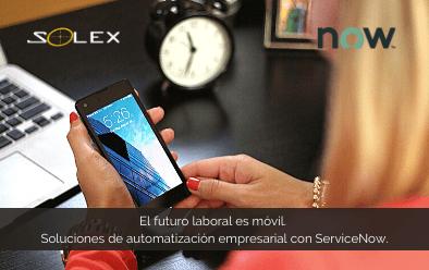 El futuro del mundo laboral es móvil. ServiceNow le ofrece soluciones de automatización empresarial y flujos de trabajo digitales