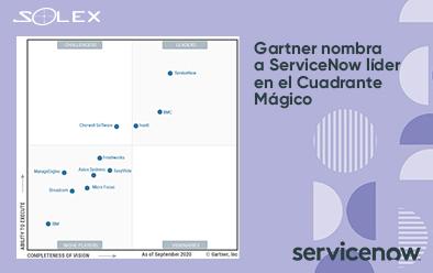 Gartner nombra a ServiceNow líder en el Cuadrante Mágico